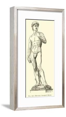 Michael Angelo's David--Framed Giclee Print