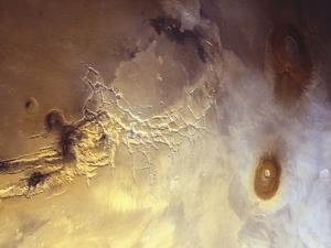 Arcuate Graben System of Noctis Labyrinthus on Mars by Michael Benson