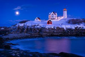 Christmas at Nubble by Michael Blanchette