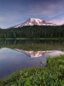 First Light On Mount Rainier by Michael Blanchette Photography