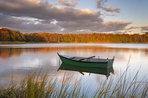 Green Boat on Salt Pond by Michael Blanchette Photography
