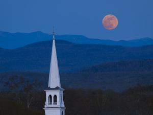 Moon Over Vermont Hills by Michael Blanchette Photography