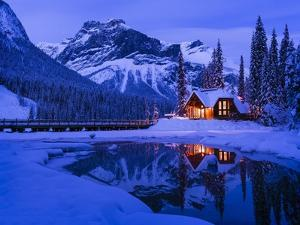 Mountain Lodge at Dusk by Michael Blanchette Photography
