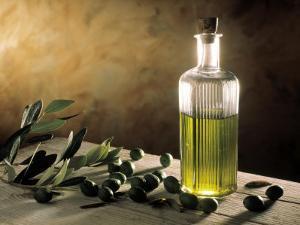 Olive Oil in Bottle, Olives by Michael Brauner