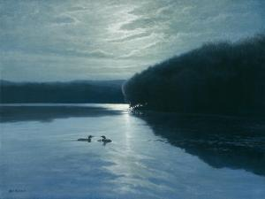Moonlight Loons by Michael Budden