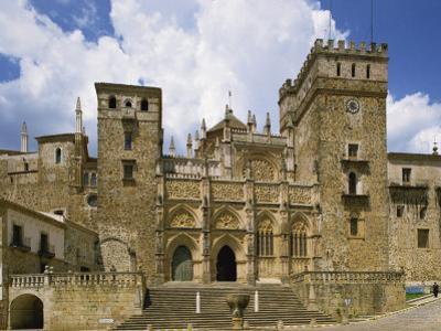 Facade of the Royal Monastery of Santa Maria De Guadalupe, Caceres Area, Extremadura, Spain