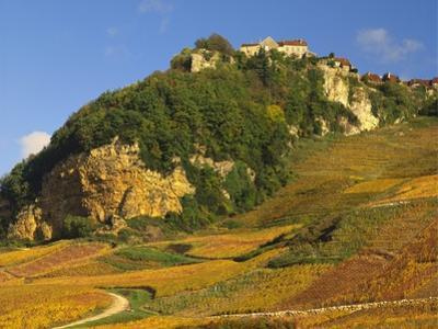 Hill Village of Chateau Chalon in the Jura, Franche Comte France