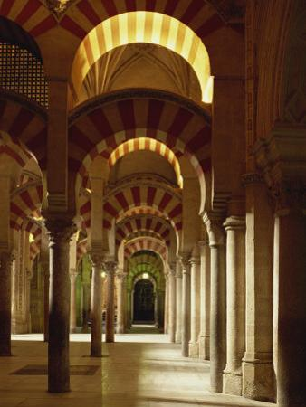 Interior of the Mezquita or Mosque at Cordoba, Cordoba, Andalucia), Spain