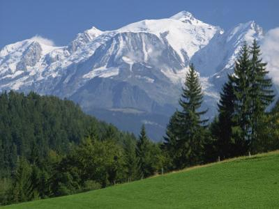 Mont Blanc, Haute Savoie, Rhone Alpes, Mountains of the French Alps, France, Europe