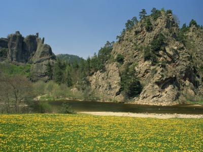 River Loire in Spring, Near Arlempdes, Haute Loire in the Auvergne, France