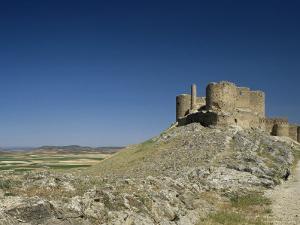 View of Castle, Consuegra, Toledo, Castile La Mancha, Spain by Michael Busselle