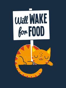 Will Wake for Food by Michael Buxton