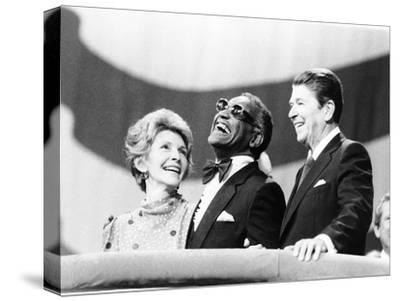 Ray Charles, Ronald Reagan, Nancy Reagan - 1984