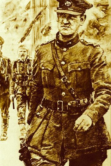 Michael Collins, Leader of the Rebels in the Easter Uprising in Ireland, 1916--Giclee Print