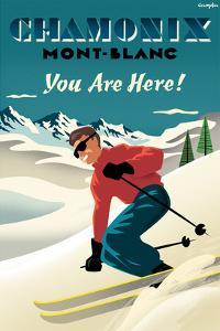Mont Blanc, Chamonix, You Are Here! by Michael Crampton