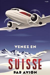 Venez en Suisse par Avion by Michael Crampton