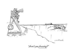 """""""Aren't you freezing?"""" - New Yorker Cartoon by Michael Crawford"""
