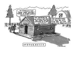 Debunkhouse - New Yorker Cartoon by Michael Crawford