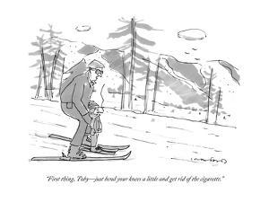 """""""First thing, Toby?just bend your knees a little and get rid of the cigare?"""" - New Yorker Cartoon by Michael Crawford"""