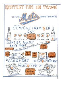Hottest Tix in Town-Special Mets promotion dates - New Yorker Cartoon by Michael Crawford
