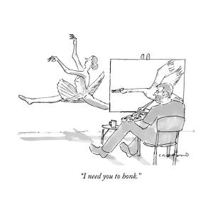 """""""I need you to honk."""" - New Yorker Cartoon by Michael Crawford"""