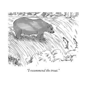 """""""I recommend the trout."""" - New Yorker Cartoon by Michael Crawford"""