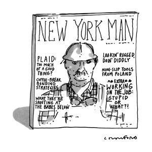 New York Man - New Yorker Cartoon by Michael Crawford