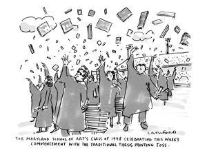 """The Maryland School of Art's Class of 1998 Celebrating This Week's Commenc?"""" - New Yorker Cartoon by Michael Crawford"""