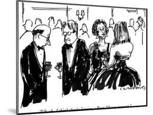 """""""Uh-oh.  I think they're having a Bryn Mawr moment."""" - New Yorker Cartoon by Michael Crawford"""
