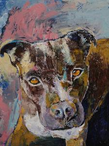 Brindle Pit Bull by Michael Creese