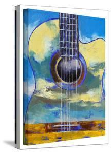 Michael Creese 'Guitar and Clouds' Gallery-Wrapped Canvas by Michael Creese