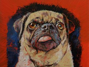 Pug Dog Portrait by Michael Creese