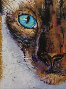 Siamese Cat Painting by Michael Creese
