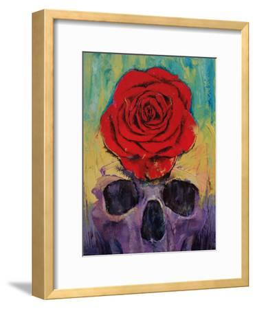 Skull With Red Rose