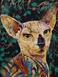 Tattooed Sphynx Cat by Michael Creese