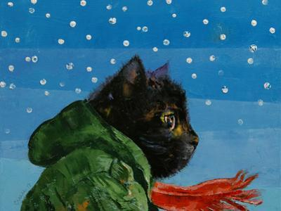 Winter Kitten by Michael Creese