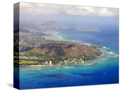 Aerial of Honolulu and Diamond Head, Oahu, Hawaii