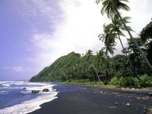 Black Sand Beach, Dominica by Michael DeFreitas