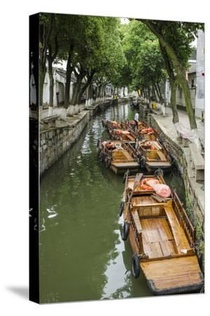 Chinese Gondola the Water Village of Tongli, China