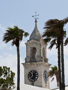 Clock Tower (Mall) at the Royal Naval Dockyard, Bermuda, Central America by Michael DeFreitas