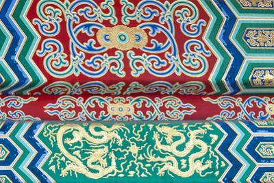 Details on the Hall of Supreme Harmony, Forbidden City, Beijing China