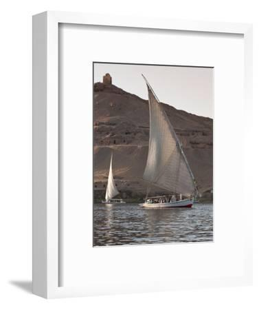 Felucca Sailing on the River Nile Near Aswan, Egypt, North Africa, Africa