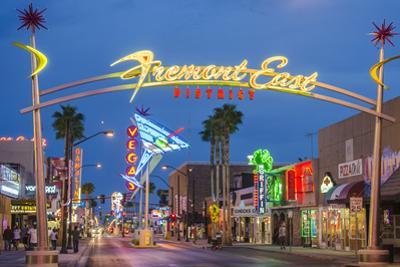 Fremont Street and Neon Sign, Las Vegas, Nevada by Michael DeFreitas