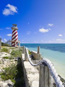 High Rock Lighthouse at High Rock, Grand Bahama, the Bahamas, West Indies, Central America by Michael DeFreitas