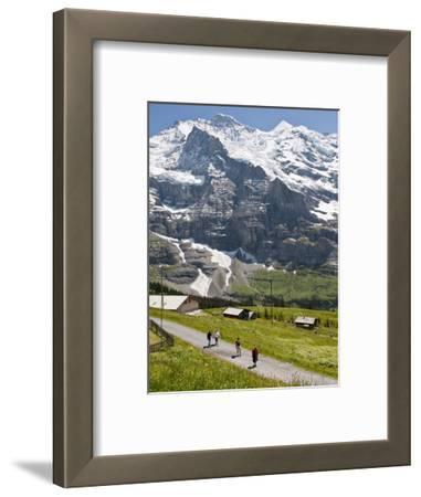Hiking Below the Jungfrau Massif From Kleine Scheidegg, Jungfrau Region, Switzerland, Europe