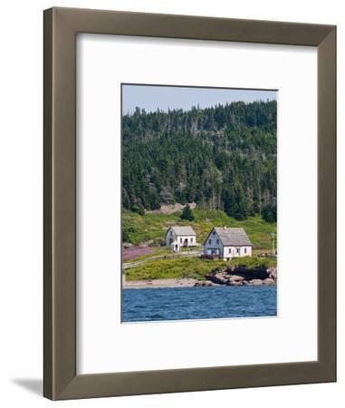 Historic Settlement on Ile Bonaventure Offshore of Perce, Quebec, Canada, North America