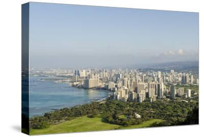 Honolulu from Atop Diamond Head State Monument, Honolulu, Oahu, Hawaii