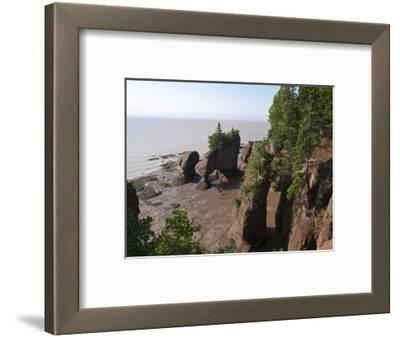 Hopewell Rocks and the Ocean Tidal Exploration Site, New Brunswick, Canada, North America