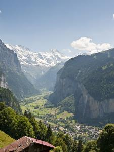 Jungfrau Massif Above Lauterbrunnen, Jungfrau Region, Switzerland, Europe by Michael DeFreitas