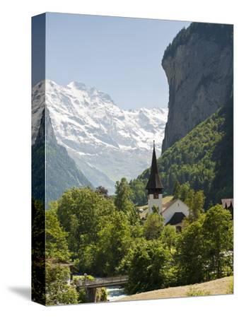 Jungfrau Massif Above Lauterbrunnen, Jungfrau Region, Switzerland, Europe